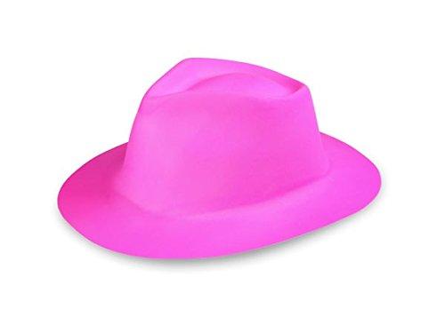 Plastique Carnaval Nouveautés chapeau Al Capone en plastique trilby chapeau Alsino