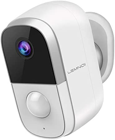 [Newest Version] Lemnoi Rechargeable Battery Security Camera Wifi, Wireless IP Camera Outdoor/Indoor, CCTV 1080P Full HD Surveillance System with Waterproof 2-Way Audio Night Vision Motion Alarm APP
