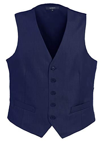 - Gioberti Mens Formal Suit Vest, Royal Blue, X-Small