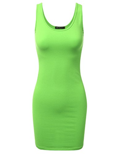 DRESSIS Womens Stretchy Sleeveless Bodycon