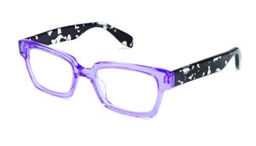Burlington Avenue - Cat Eye Fashion Reading Glasses for Men and Women - Majestic Purple (+1.25 Magnification ()
