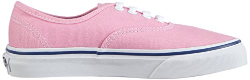 Vans Kids Authentic (Glitter Textile) Skate Shoe Prism Pink / True White BUMQin59B