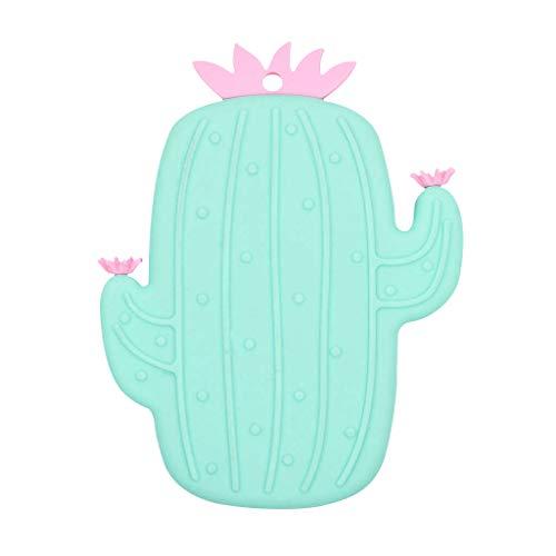 UMFun Lovely Cactus Silicone Massage Bath Brush Face & Body Scrub Tool Green -