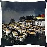 Yellow Village - Throw Pillow Cover Case (18