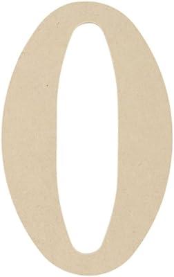 MDF Font classico legno lettere & numeri 9,5