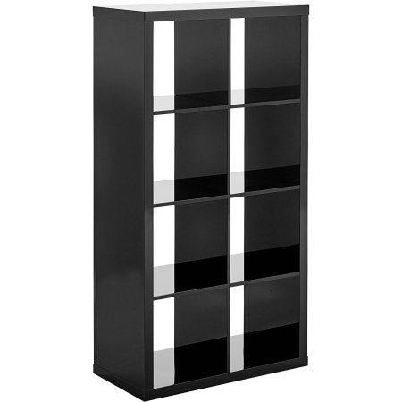 Better Homes and Gardens 8-Cube Organizer, High Gloss Black Lacquer by Better Homes & Gardens