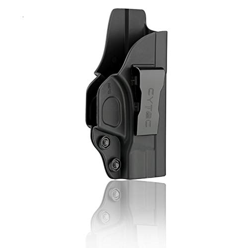 S&W M&P Shield 9MM IWB Holster, Polymer Inside The Waistband Concealed Carry Belt Holsters Fit Smith and Wesson MP Shield 9MM / .40 3.1 Inch Barrel, Right Handed