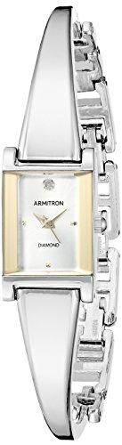 Armitron Women s 75 5322 Diamond-Accented Bangle Watch