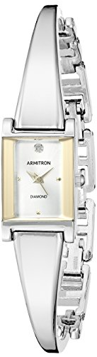 Armitron Women's 75/5322SVTT Diamond-Accented Dial Two-Tone Bangle ()