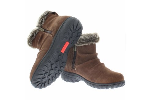 Khombu Lisa Suede Leather Brown Snow Boot 7