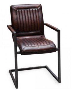 Buffelleder Freischwinger Cadi Industrialdesign Leder Stuhl