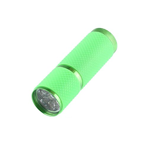 Microstream High Powered Led Penlight (Dreamyth Mini Super Bright Torch Water Resistant Rubber Coated Body 9 LED Flashlight External Belt Fluorescence (Green))