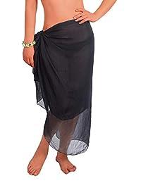8fbeb9c412 Yoimira Womens Chiffon Swimwear Sarong Beach Pareo Plus Size Cover Ups  Bathing Suit