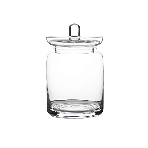 Hand Blown Glass Apothecary Jar- Glass Canister (Glass Jar Hand Blown)