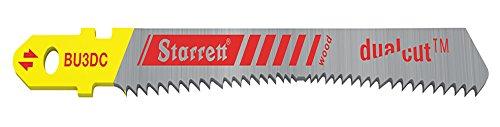 - Starrett BU3DC-2 Bi-Metal Unique Unified Shank Dual Cut Wood Cutting Jig Saw Blade, 0.060-Inch Thickness, 9-19 TPI (Pack of 2)