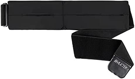 Bivilictek Running Belt Waist Belt Pack Running Pouch Belt 2 Pocket Cell Phone Holder Stretchy Sports Belt with Hook & Loop for Travels Outdoors Sports Running