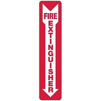 Amazon.com: Aluminio extintor Seguridad Sign – 18