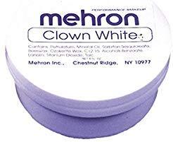 Maquillaje En Crema Color Blanco Para Pintura Facial Y Corporal - Uso Con Disfraces - Envase De 7 Onzas -