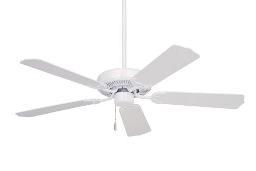 Oak Emerson Traditional Fan Ceiling - Emerson Ceiling Fans CF700WW Builder 52-Inch Energy Star Ceiling Fan, Light Kit Adaptable, Appliance White Finish
