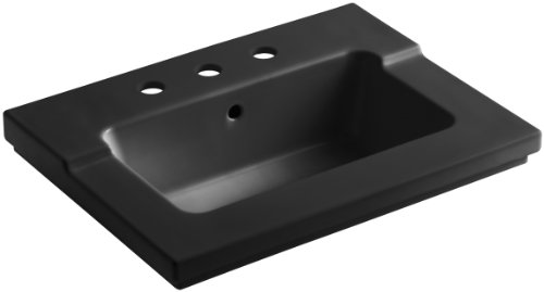 (KOHLER K-2979-8-7 Tresham One-Piece Surface and Integrated Bathroom Sink with 8-Inch Widespread Faucet Drilling,)