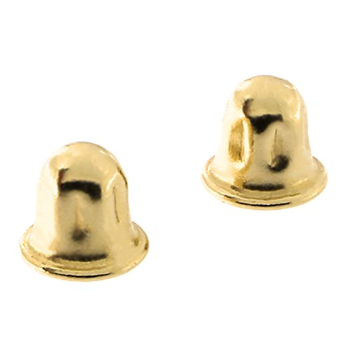 14k Yellow Gold Child Safe Screwback Earring Backing Replacements - Small #2 14k Yellow Gold Replacement