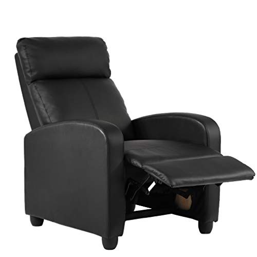 Recliner Chair Home Theater Seating Reclining Sofa Leather Chair Lounge with Padded Seat Backrest for Living ()