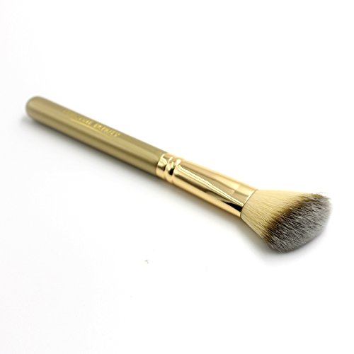 ELEGANT BEAUTY Angled Contour Brush With Soft Nylon Hairs and Gold Plating Wooden (Angled Contour Brush)