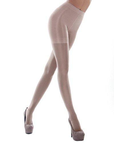 Levante Cotton (Levante Body Slim 40 Denier Longline Pantyhose sughero x-tall)