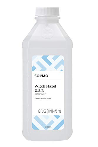 Amazon Brand - Solimo Witch Hazel USP Astringent, 16 Fl Oz (Pack of 1)