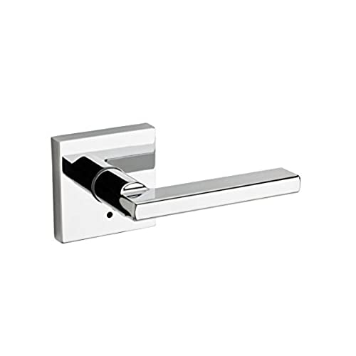 Kwikset 155HFL SQT 26 Halifax Square Privacy Bed/Bath Lever In Polished  Chrome