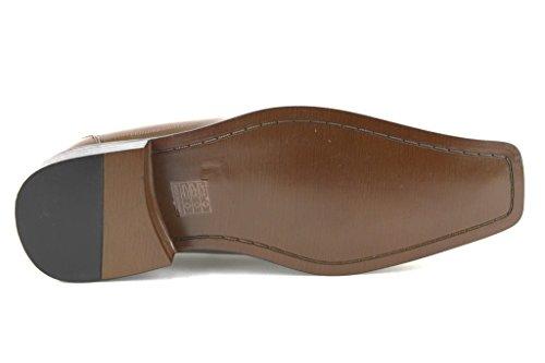 Ermax Hombres W2015-3 Vestido Oxford Zapatos Piel De Cocodrilo Sintético Marrón