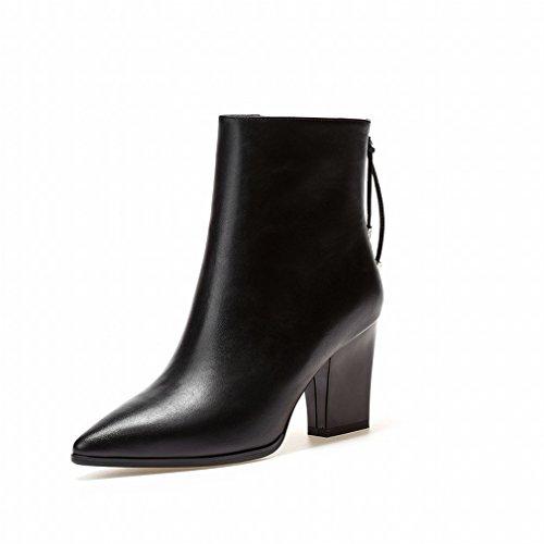 Talons Bottes Des Chaussures Femmes Rugueuses Hauts Femmes Et Zh Avec D'automne Les Noir De D'hiver nA4RqgxP