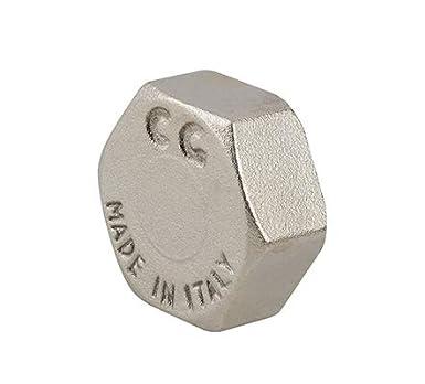 Gewerbe und Haushalt. 1 Messing Kappe vernickelt Adapter oder Rohrstopfen f/ür Industrie Ausflussverhinderer Blindstopfen