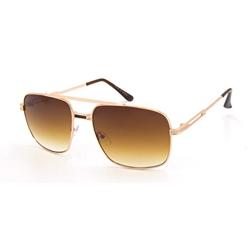 Jgny - Gold Plated Designer Hillcrest Sunglasses UV - Gold Plated Aviator Sunglasses