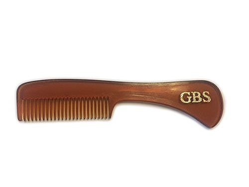 GBS Tortoise Pocket Moustache and Beard Comb - MADE IN THE USA GBSMBC