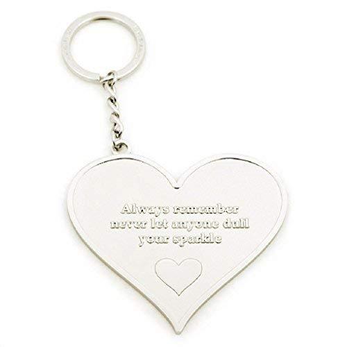 Llavero en forma de corazón con frase grabada Always ...