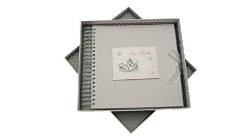 white cotton cards Bat Mitzvah Card and Memory Book Jewish Gift (Girls)