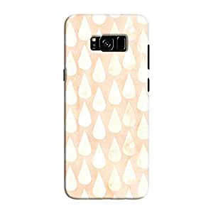 Cover It Up - Raindrops Print Orange Galaxy S8 Hard Case