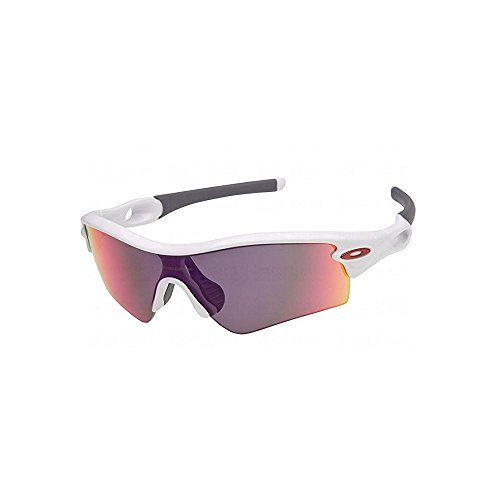 Oakley Men's Radar Path Polished White w/ Red Iridium - Red Oakley White Sunglasses And