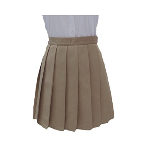 Uniformi Di A Studenti Cachi In Pieghe Vita Tinta Moda Cosplay Giapponese z Qiyun Alta Gonne Unita v8w1gqTn