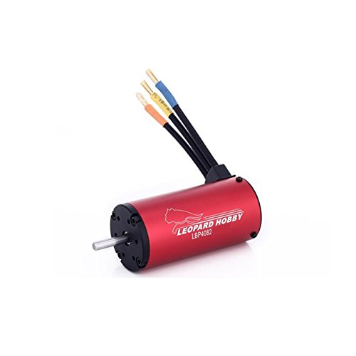 Leopard 4082 4-Pole Brushless Inrunner Motor, 1600KV For 1/8 RC Car, Truck