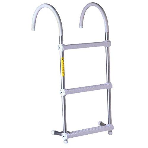 Gunwale Hook Ladder 3 Step - Garelick/Eez-In 05037:01 Gunwale Hook Ladder - 3-Step with 7