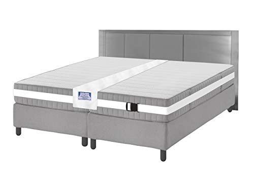 Easy King Bed Doubling System - Twin To King Converter Kit - Includes Machine Washable Bed Bridge and Adjustable Mattress Connector Belt (Two Twins To Make A King Bed)