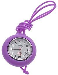Nurse Pocket Watch Medical Watch Silicone Nurse Pocket Hanging Watch Solid Color Nurse Round Watch