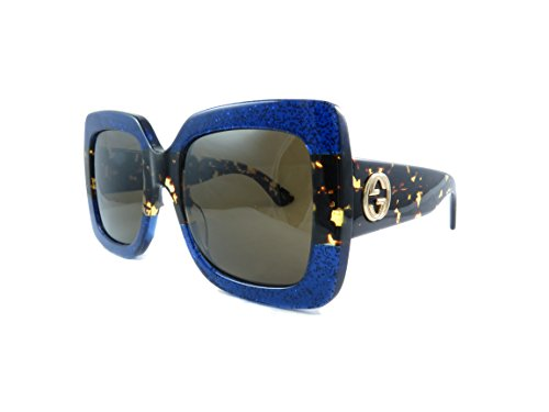 291b4ea3f64 Gucci 0083S 003 Blue Havana Brown GG0083S Sunglasses - Import ...