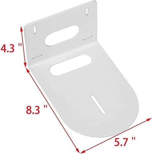 PTZ Camera Mounting Bracket Compatible with | HuddleCam | PTZOptics | Small Universal PTZ Camera Wall Mount Bracket with White Color