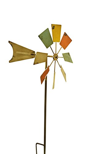 Alpine Metal Windmill Stake, Multicolor, 52""