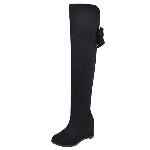 Pull Warm Black Boots Long KemeKiss on Women qP0RpwB0TI