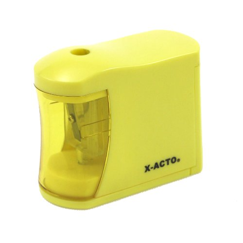 2aa Requires Batteries (ELMERS X-Acto Mini-Buzz 2AA Battery-Powered Pencil Sharpener, Color May Vary (16757))