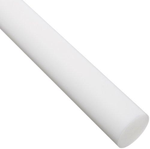 Blanco Rod - Acetal Round Rod, blanco opaco, cumple con ASTM D6100, 1-1 / 2